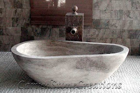 Bath, Bath Tub, Bathtub, Ideas, Interior, Kitchen & Bath, Natural, Stone, Travertine, Tubs