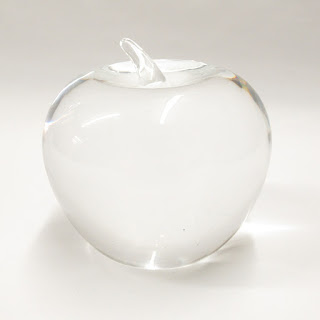 Tiffany Crystal Apple Paperweight