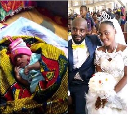 Wow! Nigerian Lady Gives Birth To A Baby On Her Wedding Day (Photo)