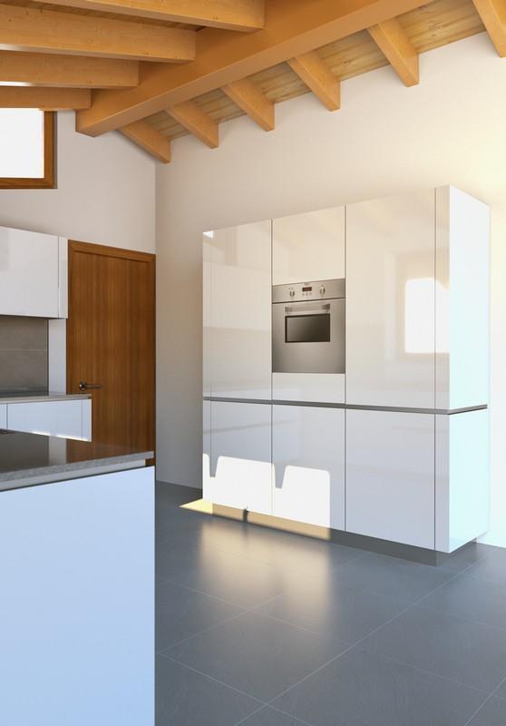 progetto cucina snaidero Bergamo vista colonne .jpg