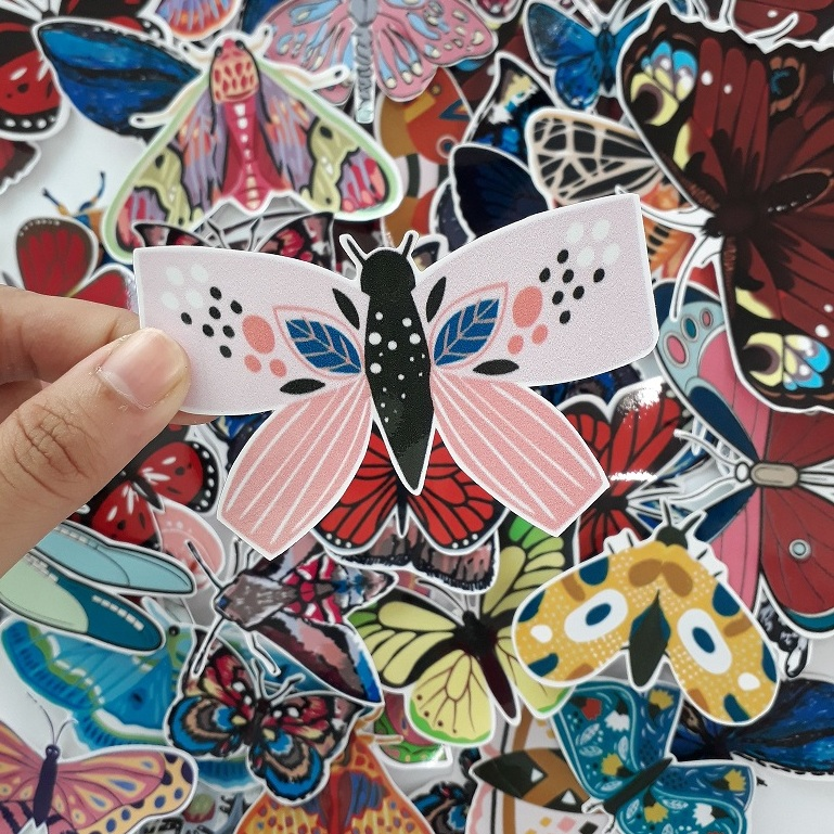 sticker bướm đêm