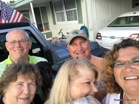 Tom & I with Joyce, Ginger & Jesse