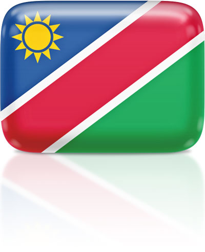 Namibian flag clipart rectangular