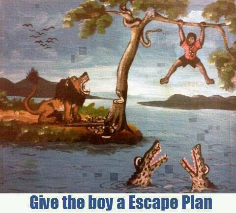 give the man an escape