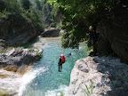 De larges vasques, de nombreux sauts, c'est une des caractéristiques de ce canyon.