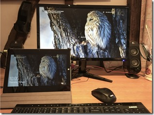 Large Monitor and Surface