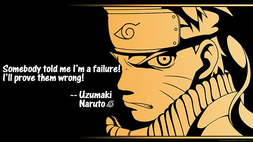 Never Give Up anime quote