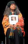 Sonia Sanchez at Dillard University for the Elizabeth Catlett tribute. Sonia recited some haiku and a piece she wrote especially for Elizabeth. (Photos by Ellie Meek Tweedy.)