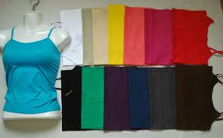 Tops de tiras variedad de colores