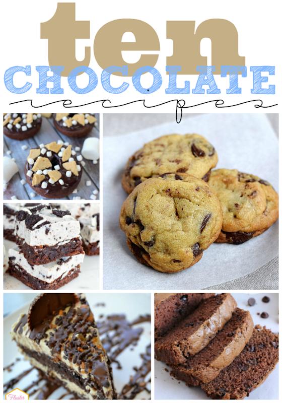 Ten Chocolate Recipes at GingerSnapCrafts.com #recipe #chocolate #gingersnapcrafts