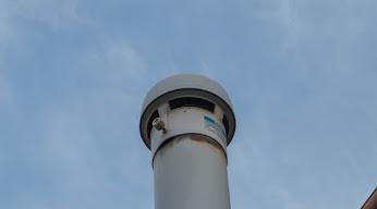 汲み取り式トイレの臭突の換気扇