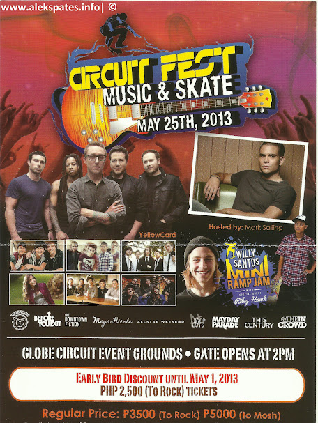 Circuit Fest – Music & Skate Event 2013 May 25, YellowCard, Before You Exit, The Downtown Fiction, MeganNicole, AllStar Weekend, DropOuts, Mayday Parade, This Century, and We Are InTheCrowd, Globe Circuit Event Ground, May 25