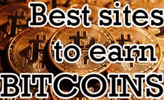 Best sites to earn bitcoins