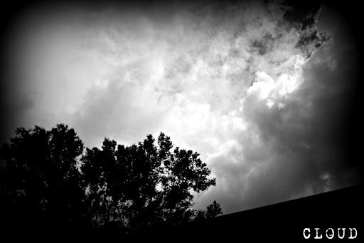 (February 24) A dark CLOUD rolls in ahead of some rare winter rain.