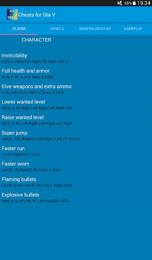 Cheats for Gta 5 1.1 screenshots 13