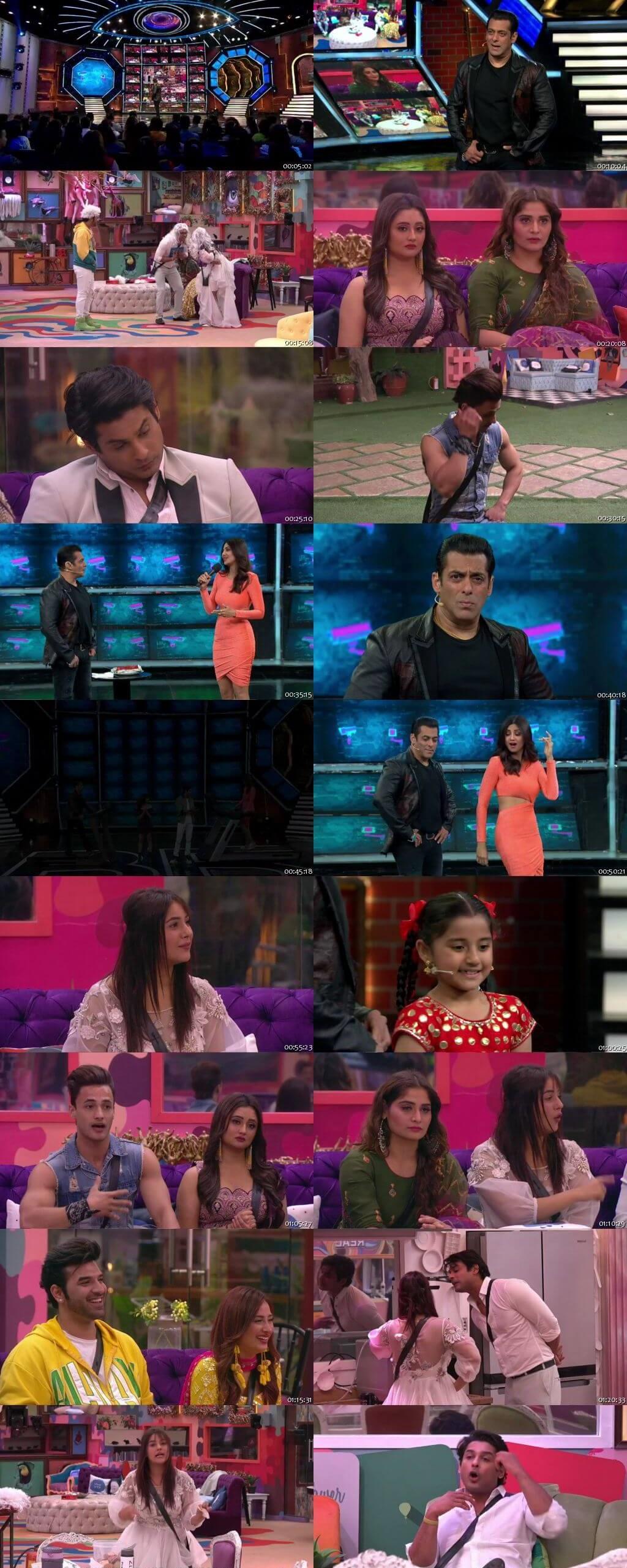 Screenshots Of Hindi Show Bigg Boss 13 9th February 2020 Episode 132 300MB 480P HD