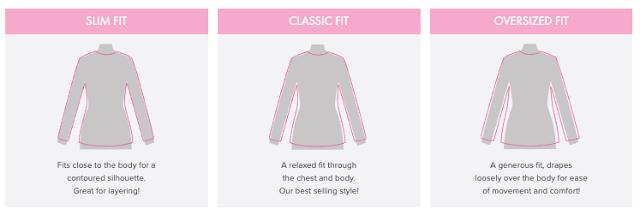 Marleylilly garment fit styles chart