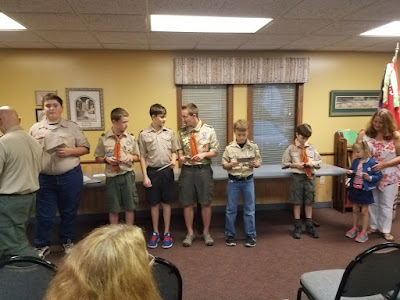 BSA Troop 392 Court of Honor - Sep 2017