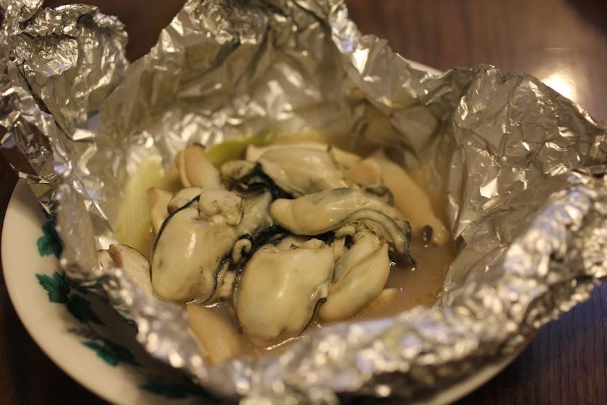 牡蠣のホイル焼きをフライパンで♪(レシピ付)