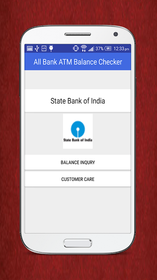 Screenshots of All Bank ATM Balance Checker for Android