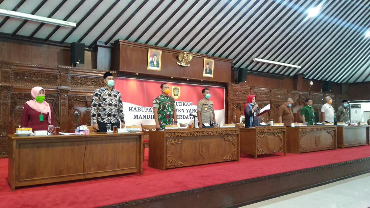 Percepatan Pencegahan dan Pengendalian Virus Corona di Klaten, Bupati Sri Mulyani Pimpin Gugus Tugas Covid 19