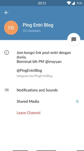 Auto Ping Entry Blog di Telegram
