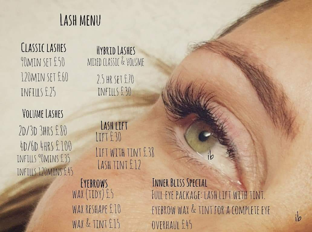 Eye And Eyelash Treatments Inner Bliss