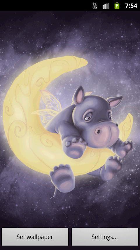 Скриншот Sleepy Hippo Live Wallpaper от