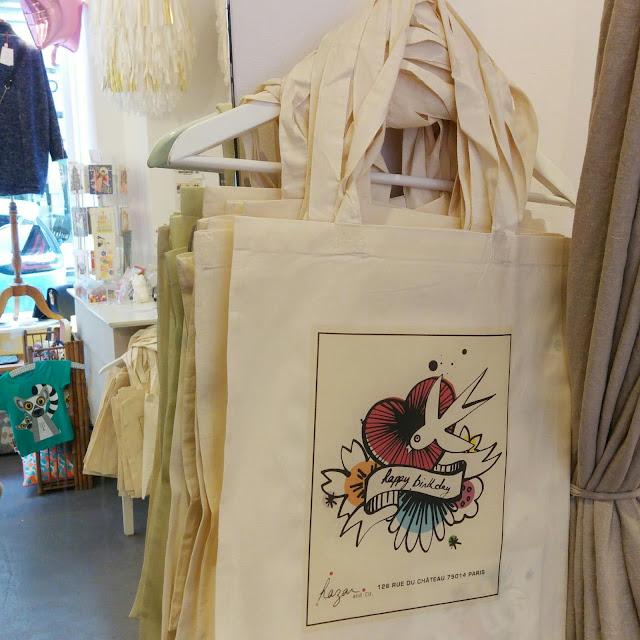 shopping bag cadeaux, anniversaire boutique paris 14