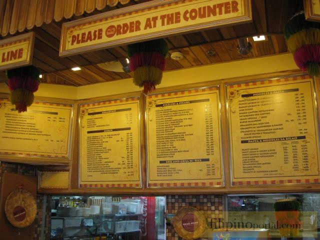Buddy's menu