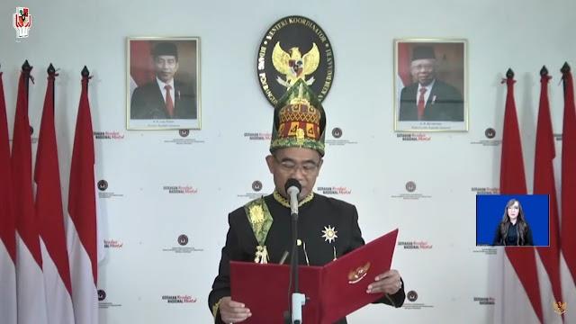 Pejabat Utama Polres Simalungun Ikuti Upacara Peringatan Hari Lahir Pancasila, Secara Virtual
