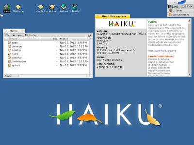 HAIKU R1 Alpha 4 disponible, todo un homenaje a BeOS