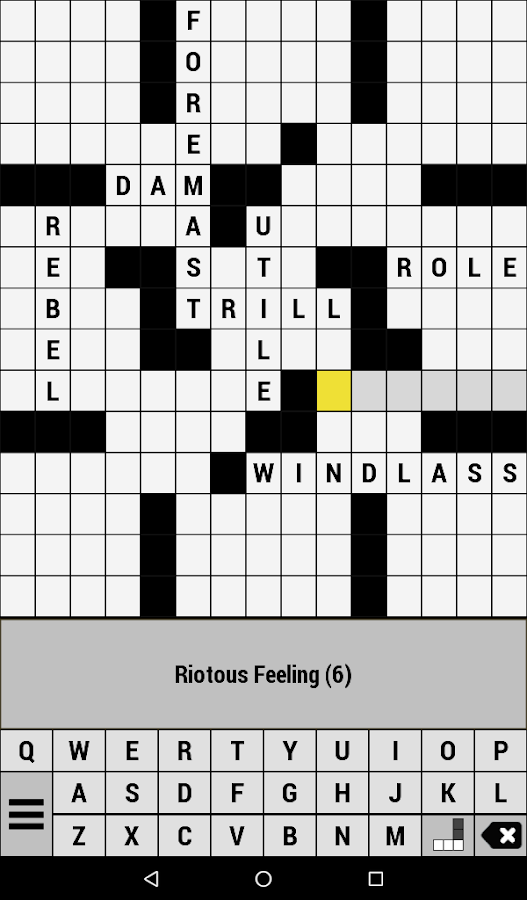 Crossword- screenshot