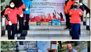 Persatuan Wanita Luar Negeri Konjen Malaysia Medan Beri Bantuan kepada Kaum Duafa
