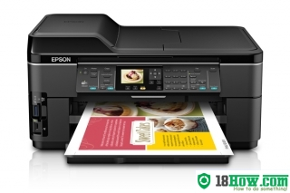 How to reset flashing lights for Epson WorkForce WF-7511 printer
