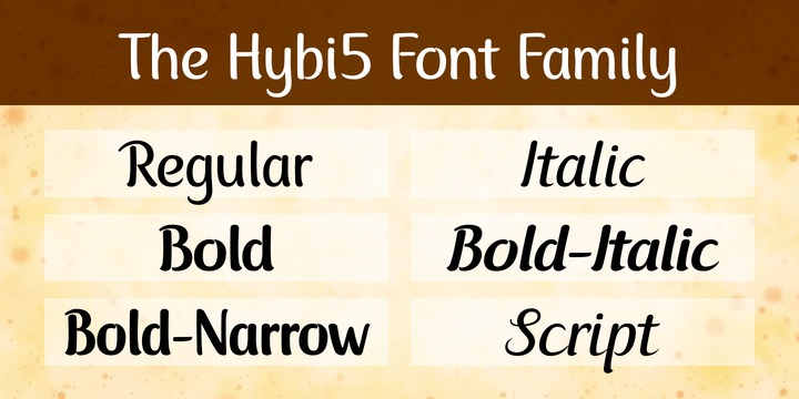 Download Hybi5 Font Family From Hybi-Types