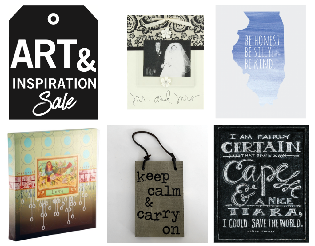 Art inspiration sale items header