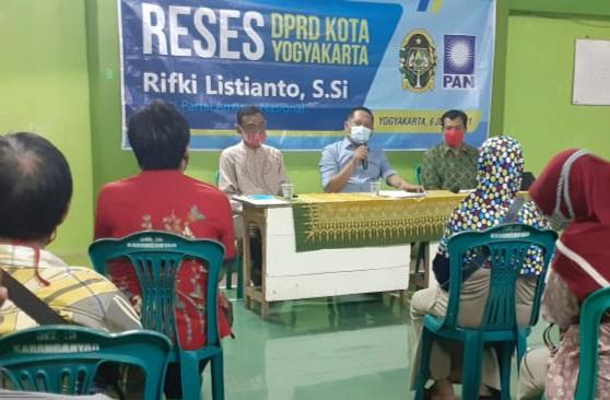 Anggota DPRD Kota Yogya Rifki Listianto Perjuangkan Aspirasi Warga Di Masa Pandemi