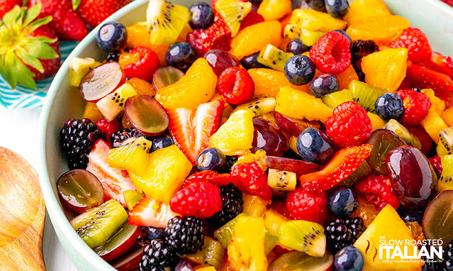 summer fruit salad recipe in a bowl