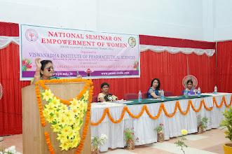 Photo: Speech by Prof. K. Raja Rajeswari