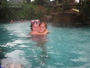 Photo: Rain schmain. Still enjoying the hot tub at Los Lagos.