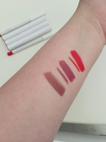 Colourpop Lippie Stix Swatches - Frenchie, Tootsi & Lumiere