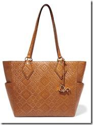 Diane von Furstenberg Basketweave Leather Tote