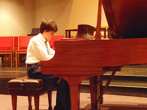 Andrew  Skinner, one of our youth, played Nuage gris, O Polichinelo