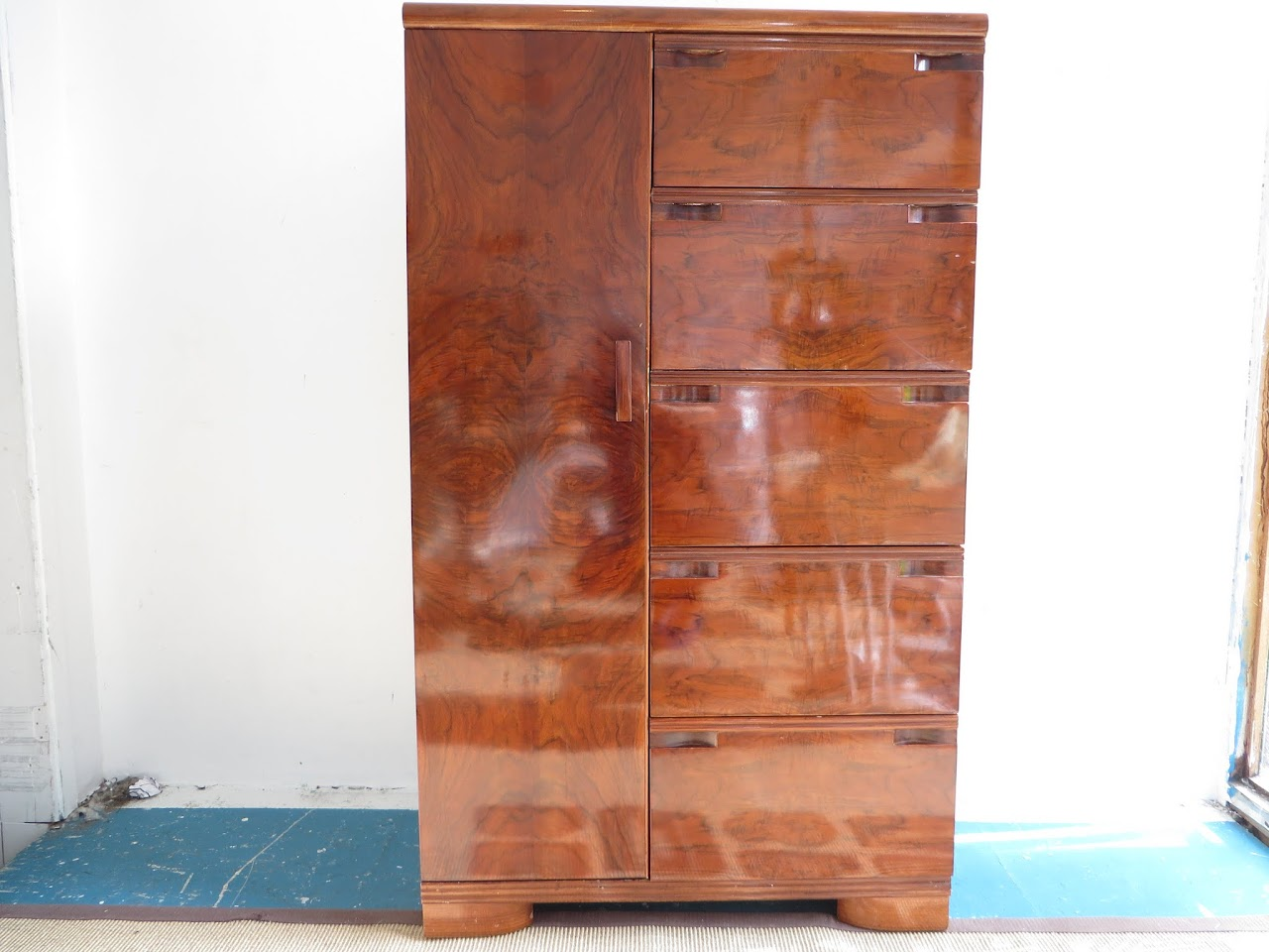 Polished Wood Armoire