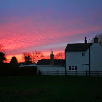 Sunset Over Woodhurst - Christmas Day 2007