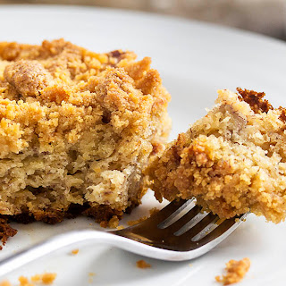 Easy Moist Banana Crumb Cake.