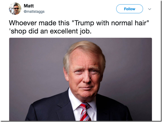 trump hair tweet