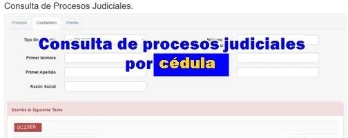 Consultar procesos judiciales con cédula y al detalle por Internet