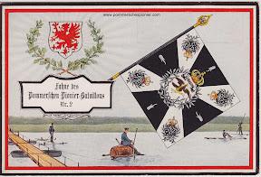 Fahne des Pommerchen Pionier-Batl. Nr. 2